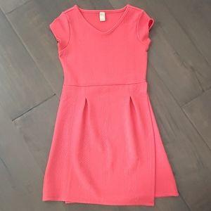 Girls Coral Stretch Wrap Dress L 10-12